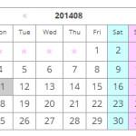 WordPress カレンダー カスタマイズ(add_filter版)