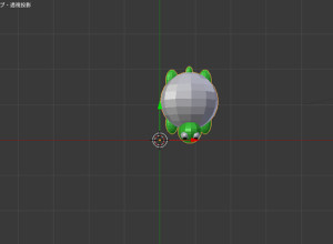 Blender オブジェクトを中心にする