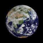 Blender Three.js 地球 その1(テクスチャ)