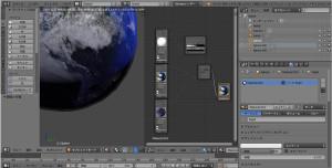 blender 地球 ノード