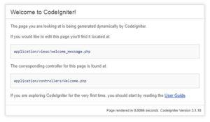 CodeIgniter インストール